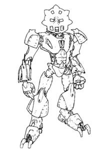 Лего бионикл картинки раскраски (4)