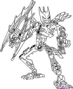 Лего бионикл картинки раскраски (6)