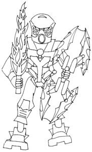 Лего бионикл картинки раскраски (9)