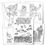 Лего звездные войны картинки раскраски (10)