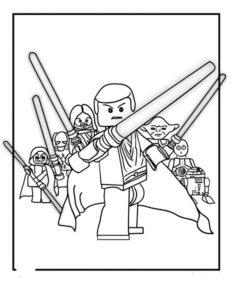 Лего звездные войны картинки раскраски (15)