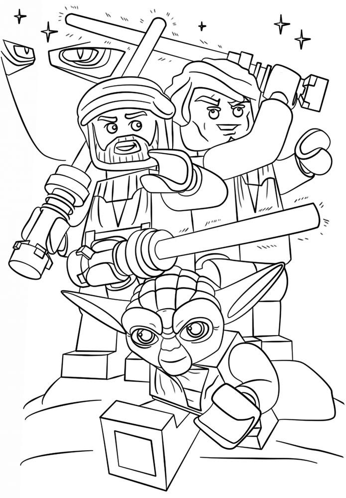 Лего звездные войны картинки раскраски (5)