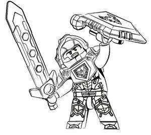 Лего нексо найц картинки раскраски (12)