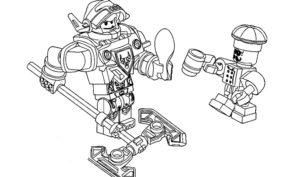 Лего нексо найц картинки раскраски (9)