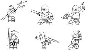 Лего ниндзяго картинки раскраски (1)