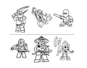 Лего ниндзяго картинки раскраски (4)