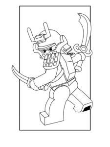 Лего ниндзяго картинки раскраски (40)