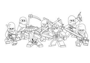 Лего ниндзяго картинки раскраски (44)