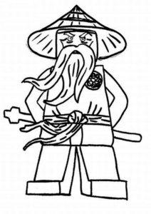 Лего ниндзяго картинки раскраски (9)