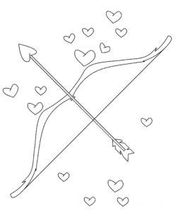 Лук и стрелы картинки раскраски (11)