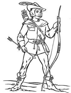 Лук и стрелы картинки раскраски (12)