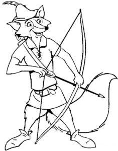 Лук и стрелы картинки раскраски (13)