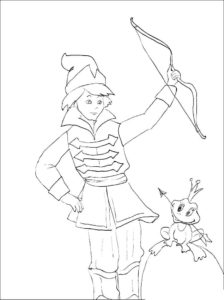 Лук и стрелы картинки раскраски (17)