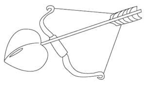 Лук и стрелы картинки раскраски (2)