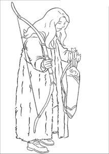 Лук и стрелы картинки раскраски (22)