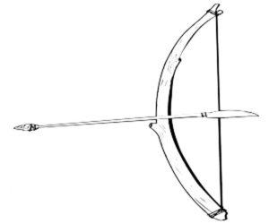 Лук и стрелы картинки раскраски (24)