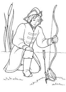 Лук и стрелы картинки раскраски (26)