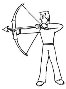 Лук и стрелы картинки раскраски (27)
