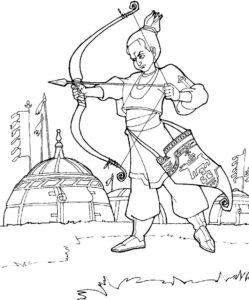 Лук и стрелы картинки раскраски (29)
