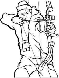 Лук и стрелы картинки раскраски (32)