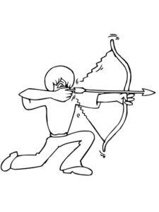 Лук и стрелы картинки раскраски (34)