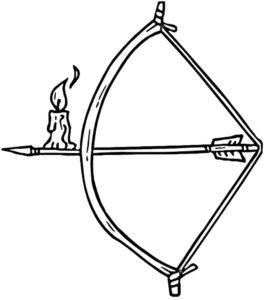 Лук и стрелы картинки раскраски (35)