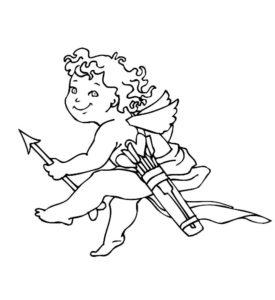 Лук и стрелы картинки раскраски (4)