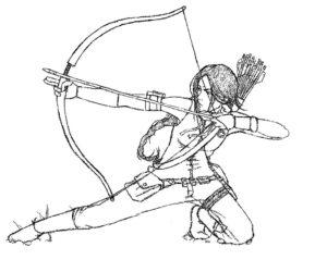 Лук и стрелы картинки раскраски (40)