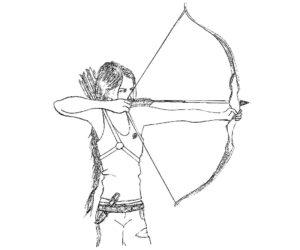 Лук и стрелы картинки раскраски (41)