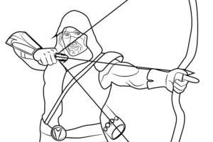 Лук и стрелы картинки раскраски (44)
