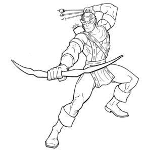 Лук и стрелы картинки раскраски (45)