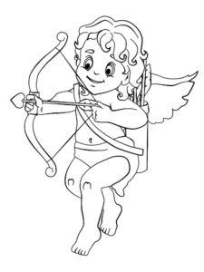 Лук и стрелы картинки раскраски (47)