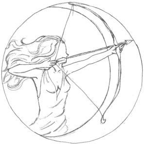 Лук и стрелы картинки раскраски (54)