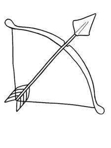 Лук и стрелы картинки раскраски (55)