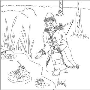 Лук и стрелы картинки раскраски (56)