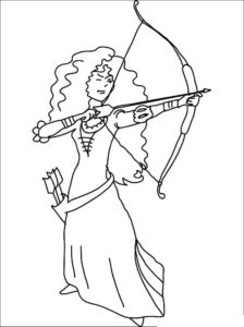 Лук и стрелы картинки раскраски (58)