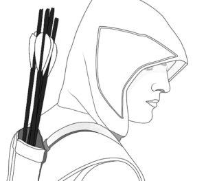 Лук и стрелы картинки раскраски (59)