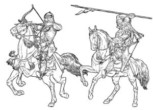 Лук и стрелы картинки раскраски (6)