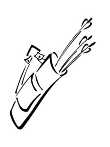 Лук и стрелы картинки раскраски (62)