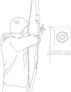 Лук и стрелы картинки раскраски (65)