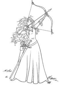 Лук и стрелы картинки раскраски (67)
