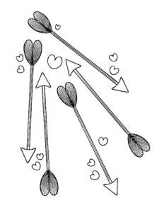 Лук и стрелы картинки раскраски (68)