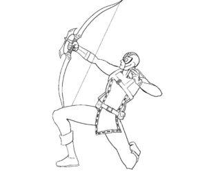 Лук и стрелы картинки раскраски (71)