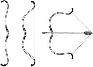 Лук и стрелы картинки раскраски (9)