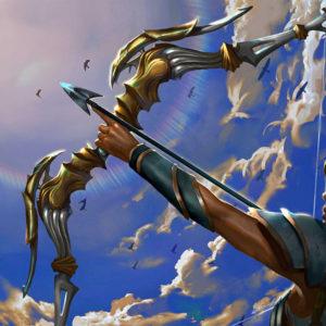 Лук и стрелы раскраски