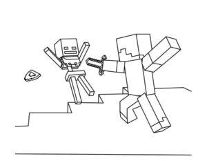 Майнкрафт картинки раскраски (2)