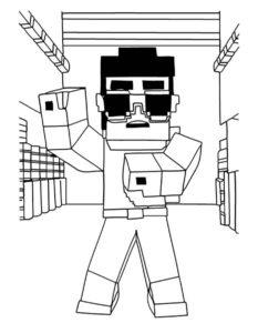 Майнкрафт картинки раскраски (3)