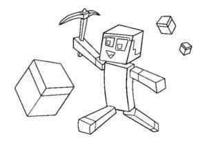 Майнкрафт картинки раскраски (4)