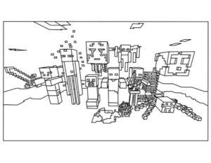 Майнкрафт картинки раскраски (8)