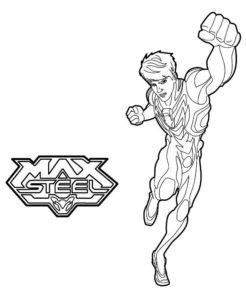 Макс стил картинки раскраски (6)